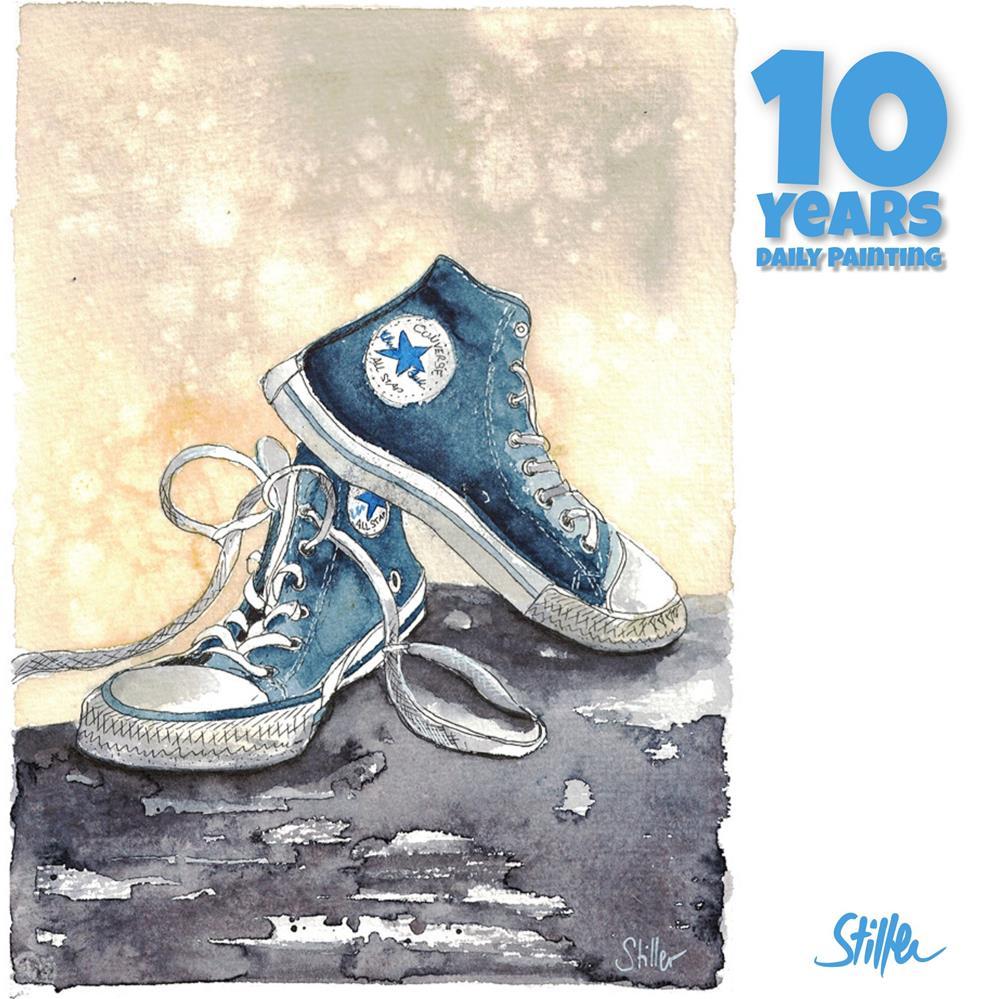"""""""3677 Blue Chucks"""" original fine art by Dietmar Stiller"""