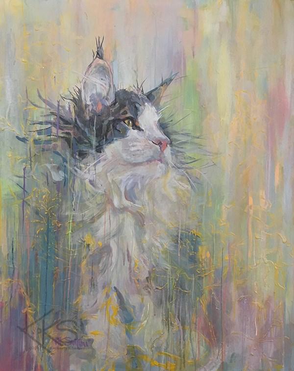 """""""Delusions of Grandeur"""" original fine art by Kimberly Santini"""