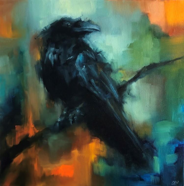 """Waiting for Fairer Skies"" original fine art by Christine E. S. Code"