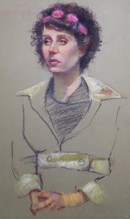 """""""Pastel portraits"""" original fine art by Kathy Weber"""