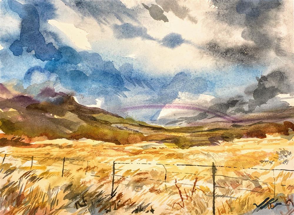 """Wet Mountain Valley, Colorado"" original fine art by Jean Krueger"