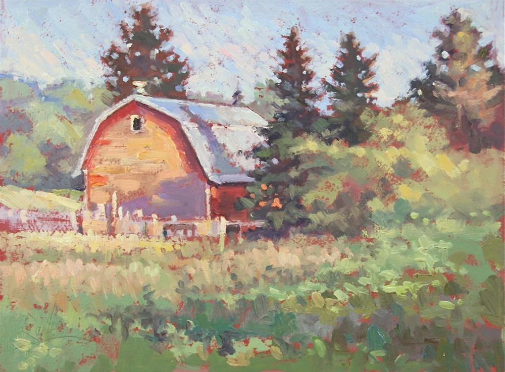 """Marinette Cty Farm"" original fine art by Larry Seiler"