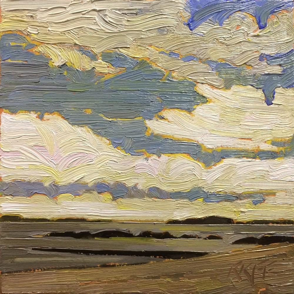 """""""Willows Beach: 6x6 oil on panel"""" original fine art by Ken Faulks"""