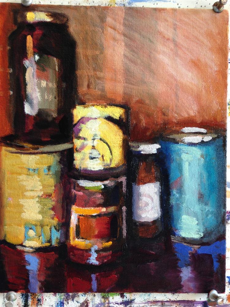 """""""Italian Larder"""" original fine art by Pamela Hoffmeister"""