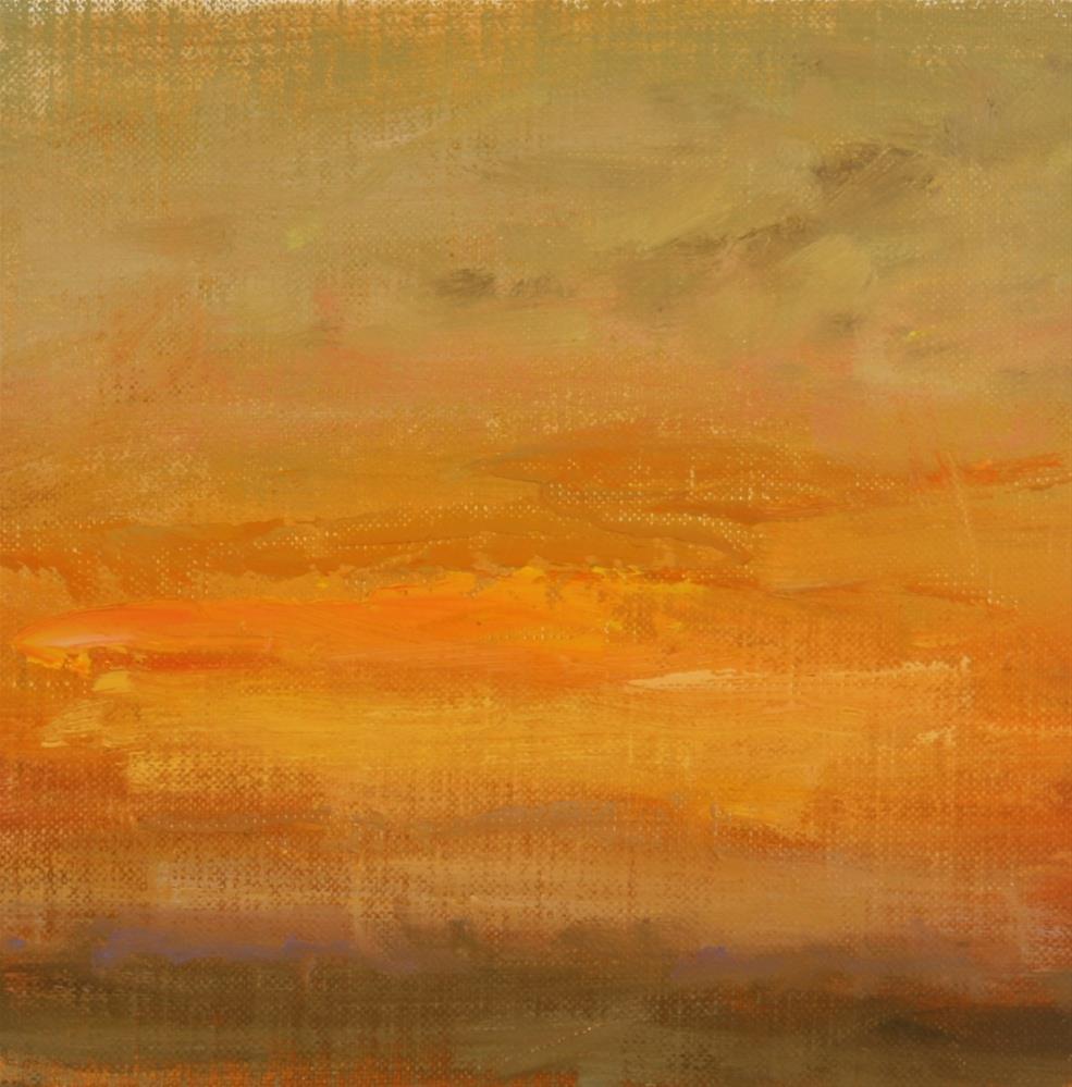"""""""Fall Sunrise 10"""" original fine art by Scott Serafica"""