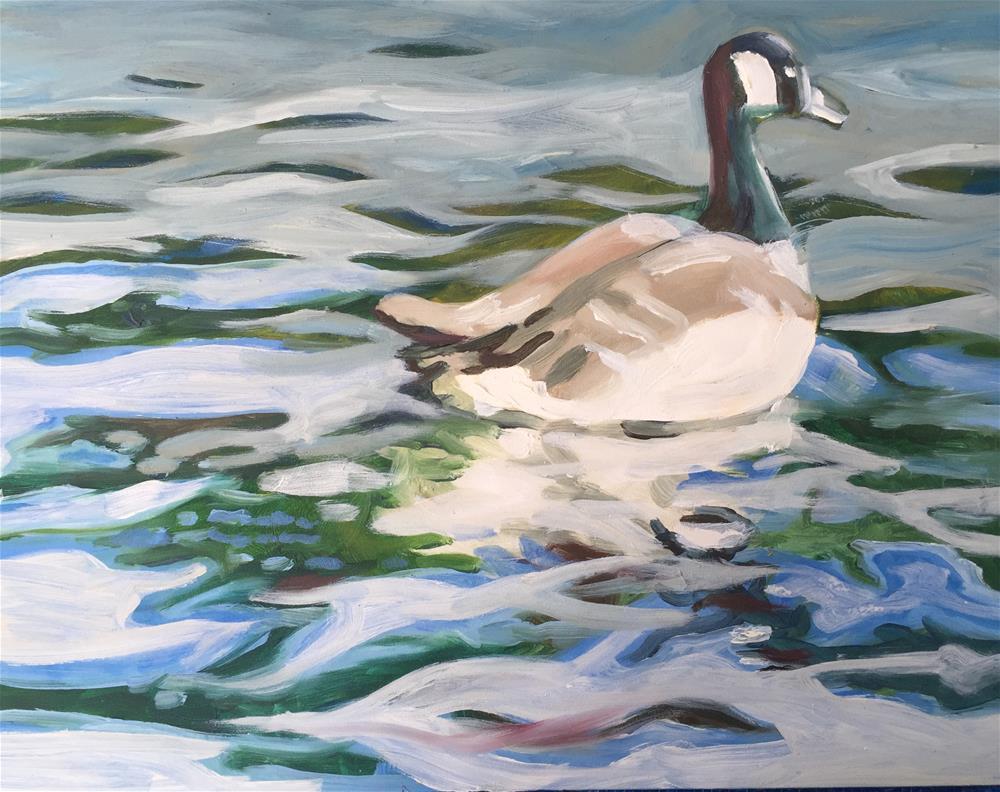 """Goose"" original fine art by Sally Posner"