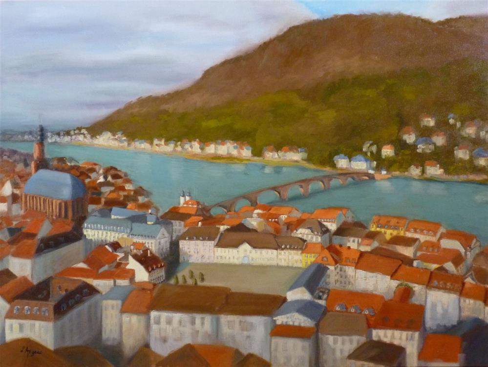 """Heidelberg"" original fine art by Karen D'angeac Mihm"