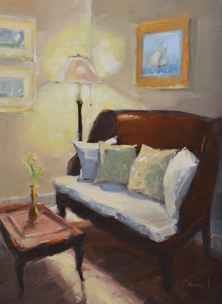 """Cottage Corner - Anderson Gallery show wrap up!"" original fine art by Laurel Daniel"