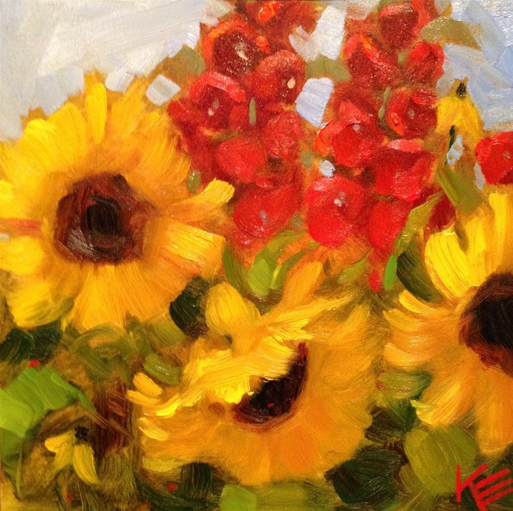 """Summer garden II"" original fine art by Krista Eaton"