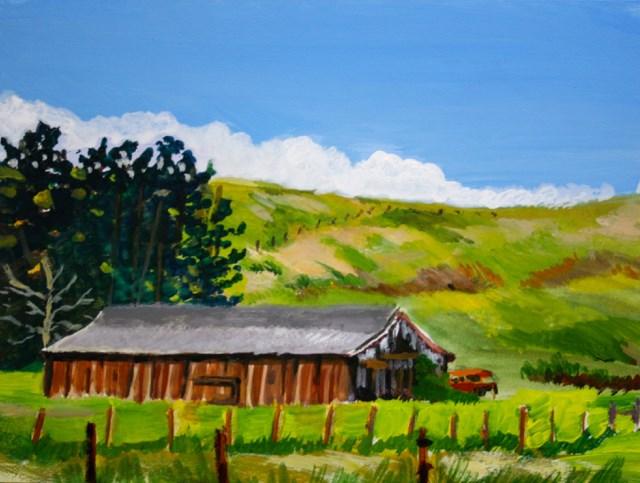 """""""Pescadero Barn"""" original fine art by JoAnne Perez Robinson"""