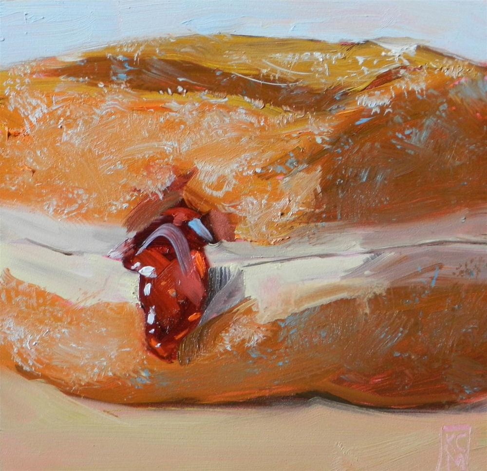 """ZOOM A Little Jelly!, 6x6 Inch Original Oil Painting by Kelley MacDonald"" original fine art by Kelley MacDonald"
