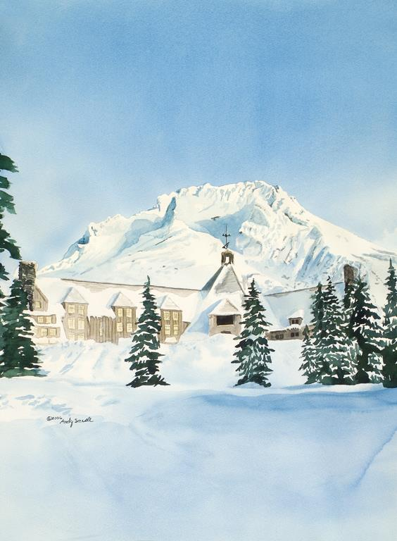 """""""Mt. Hood Timberline"""" original fine art by Andy Sewell"""