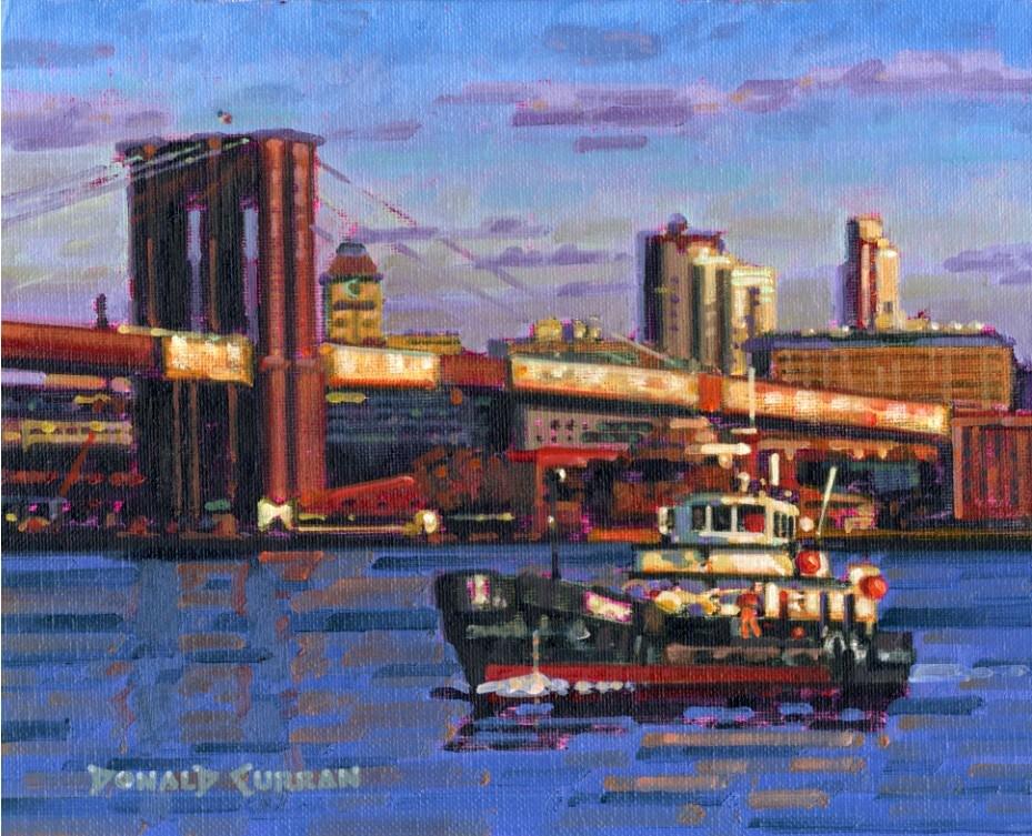"""Brooklyn Bridge"" original fine art by Donald Curran"