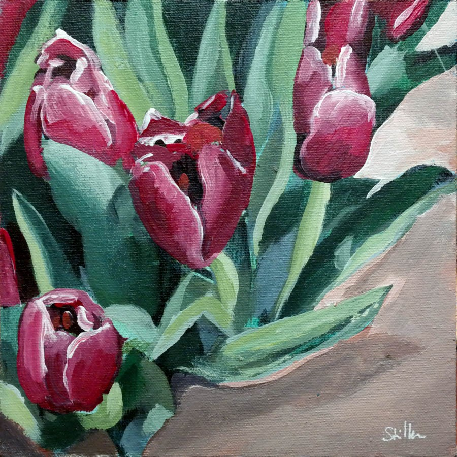 """2355 Tulips at the Finish Line"" original fine art by Dietmar Stiller"
