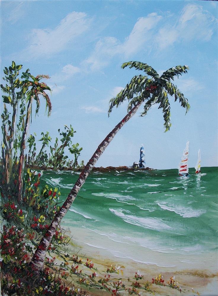 """""""Lighthouse Pier"""" original fine art by Ken Fraser"""