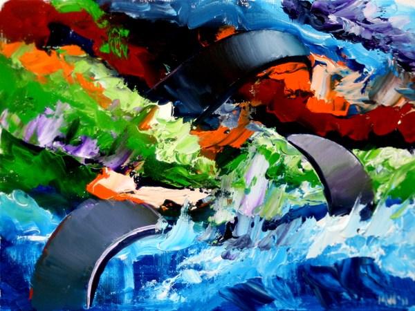 """Mark Webster - Abstraction 12 - Abstract Landscape Oil Painting"" original fine art by Mark Webster"