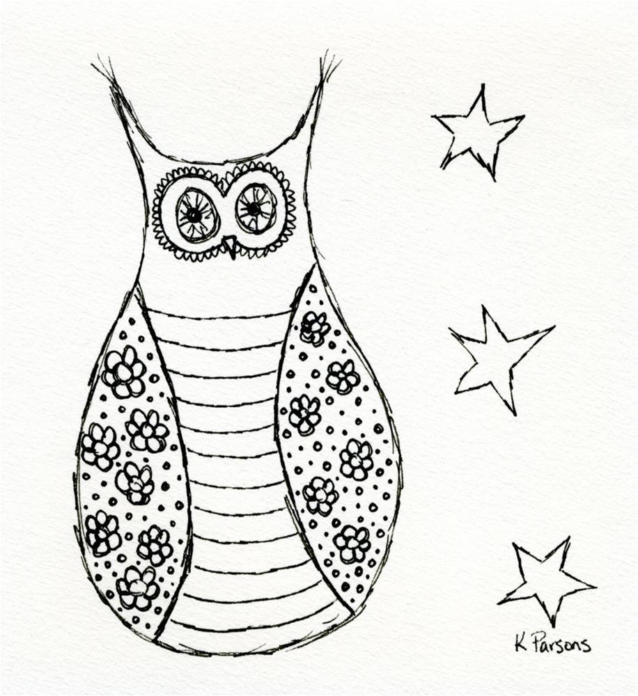 """Wisdom in the Stars"" original fine art by Kali Parsons"