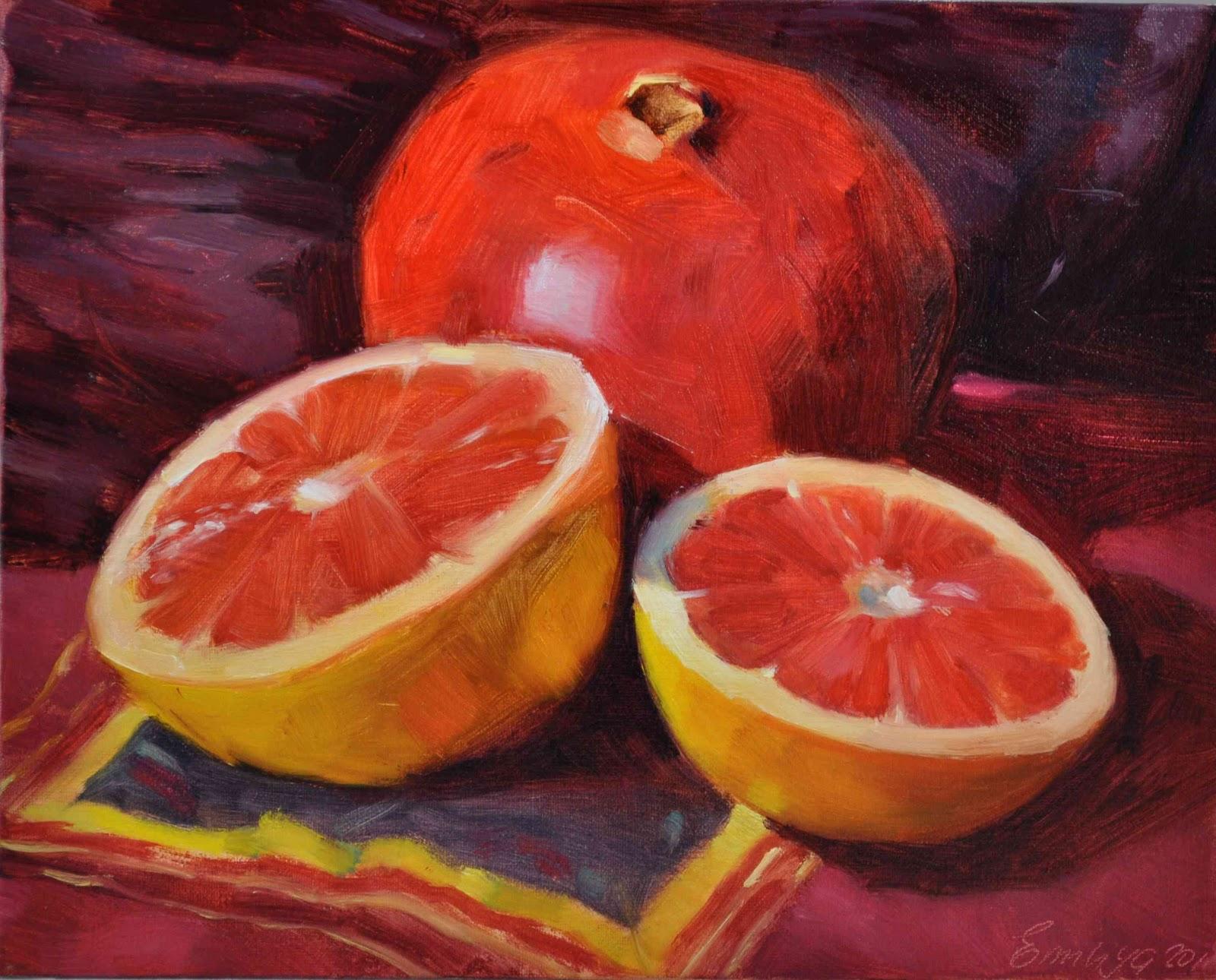 """Ruby Red 8x10 , oil on linen"" original fine art by Emiliya Lane"