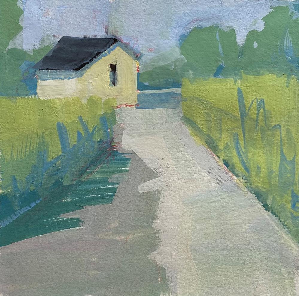 """Farm Lane"" original fine art by Patti Vincent"
