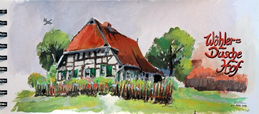 """""""2194 Woehler-Dusche-Hof"""" original fine art by Dietmar Stiller"""