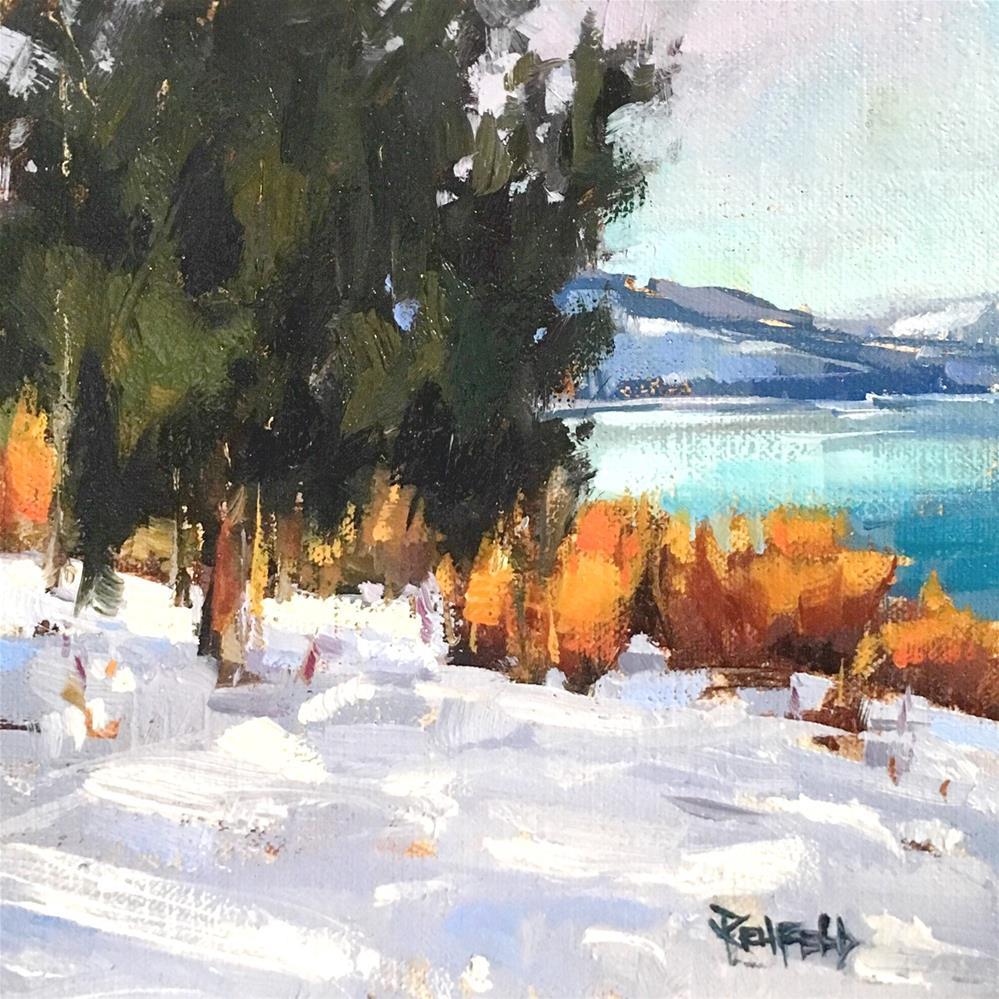 """""""Northwest Snow"""" original fine art by Cathleen Rehfeld"""