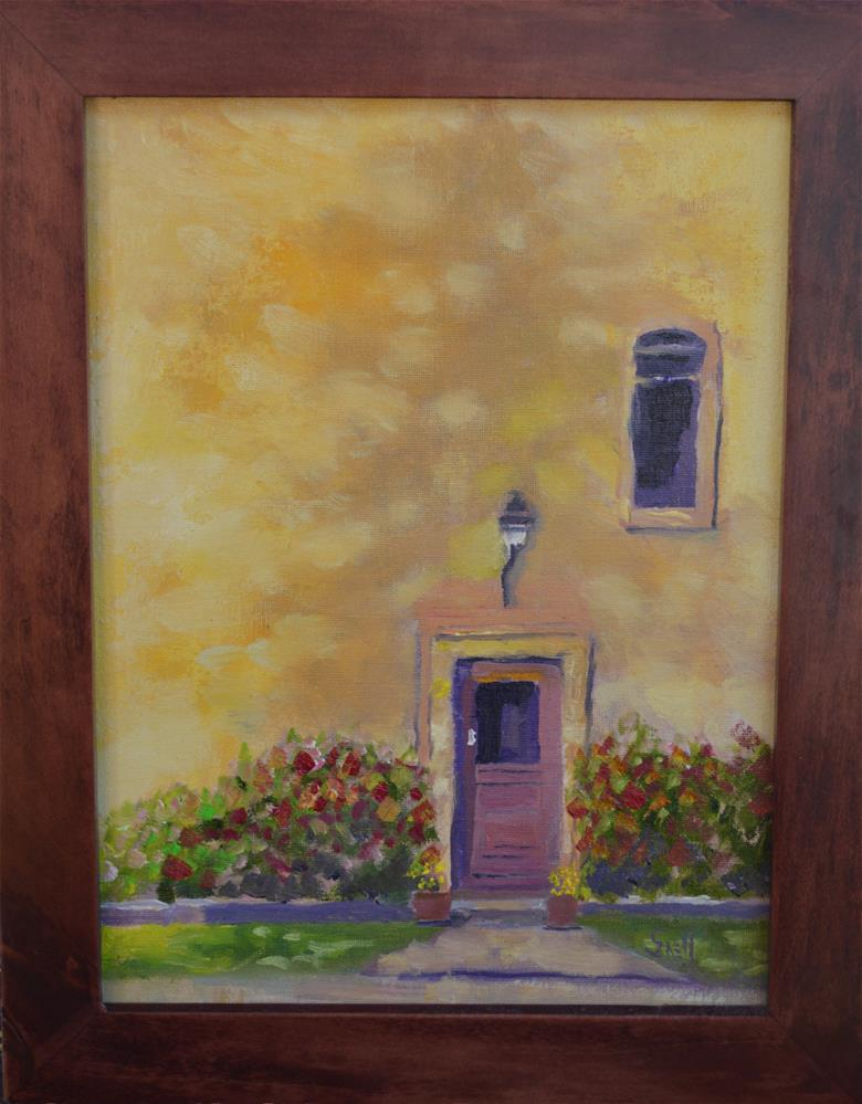 """""""French door shadow"""" original fine art by Roger Snell"""