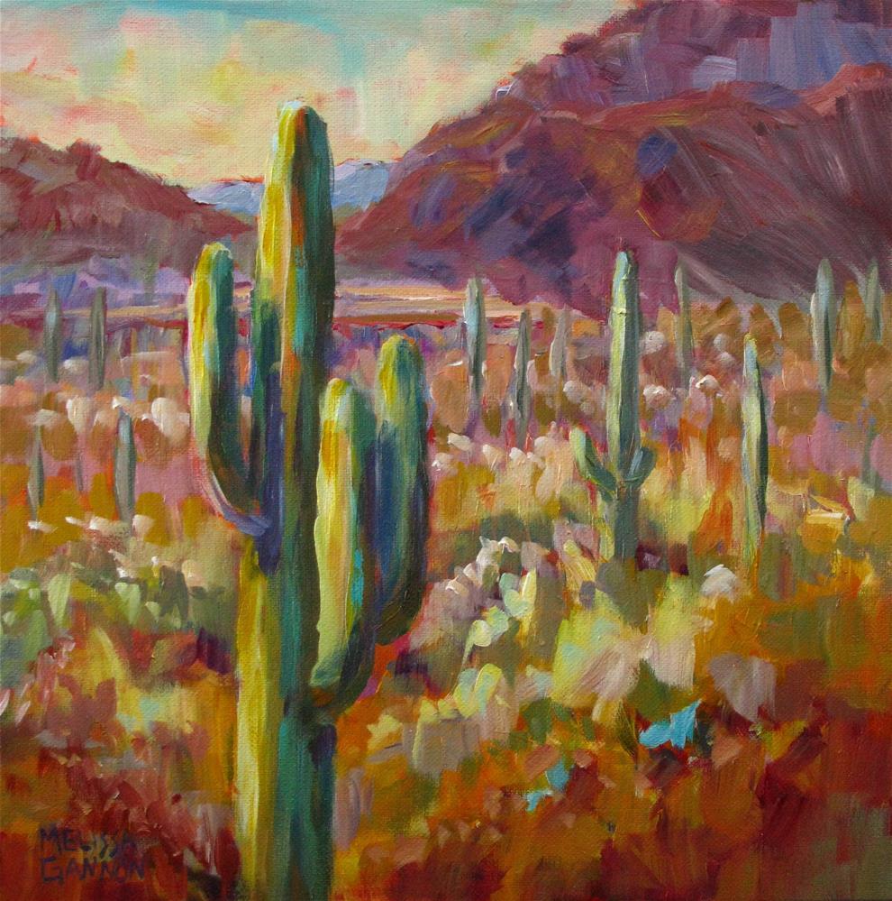 """Saguaro Dreams"" original fine art by Melissa Gannon"