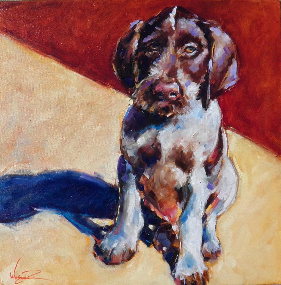 """Dog Commission and 30 Painting Challenge"" original fine art by Olga Wagner"