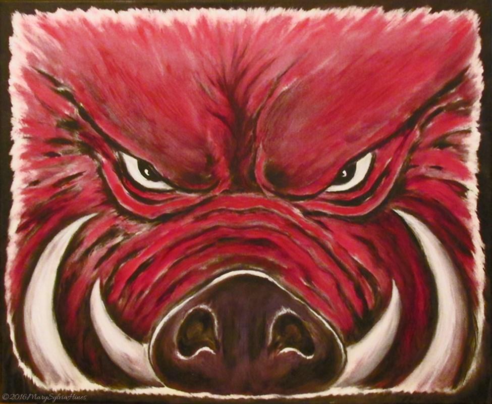 """""""Razorback 11"""" original fine art by Mary Sylvia Hines"""