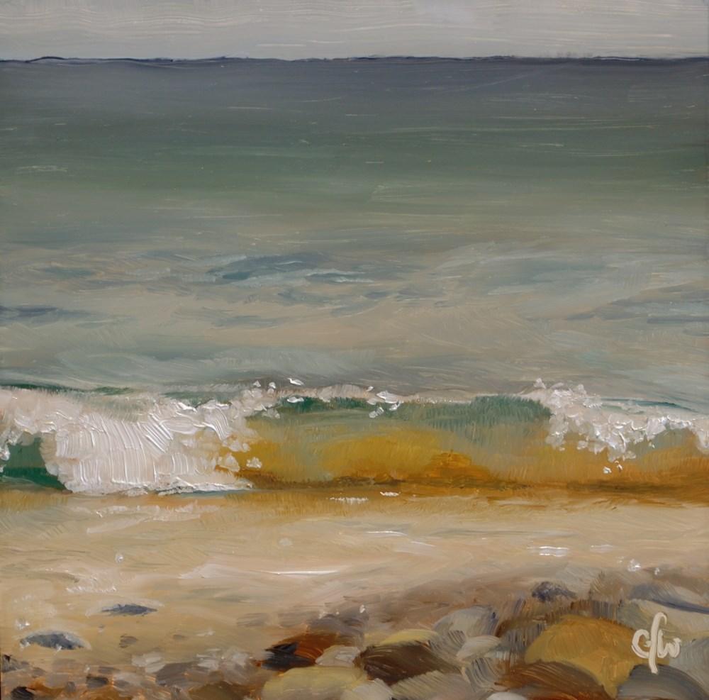 """Waves on the Rocky Shore"" original fine art by Gary Westlake"