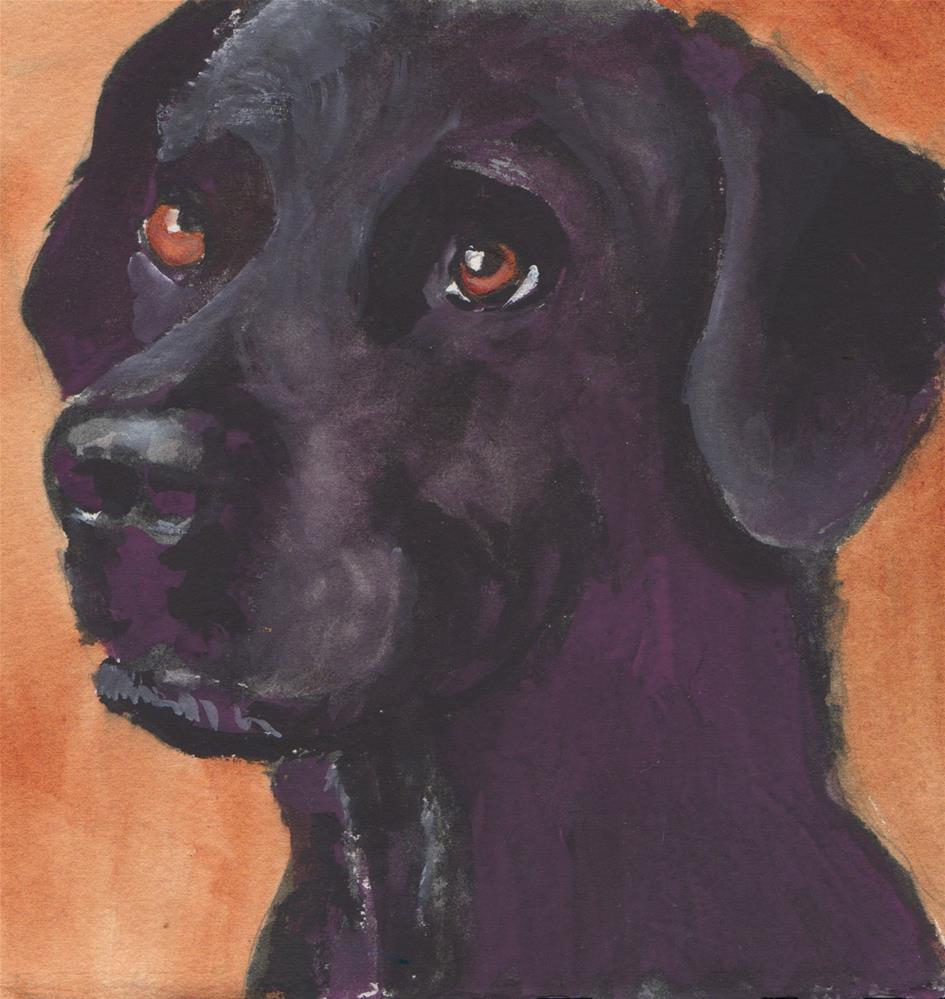 """""""BLACK LAB"""" original fine art by Bunny Griffeth"""
