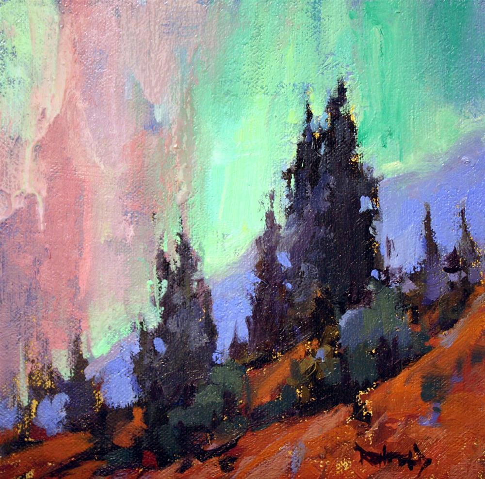 """Northern Lights"" original fine art by Cathleen Rehfeld"