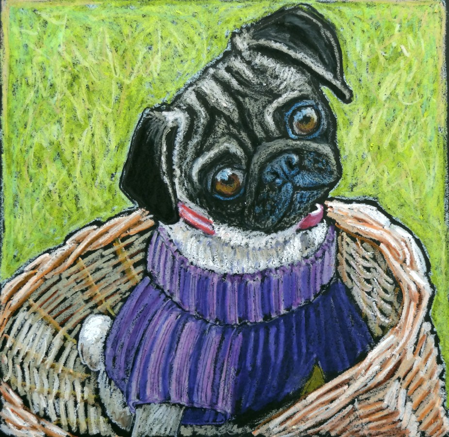 """""""Mei Ling Ready for a Bike Ride"""" original fine art by Ande Hall"""