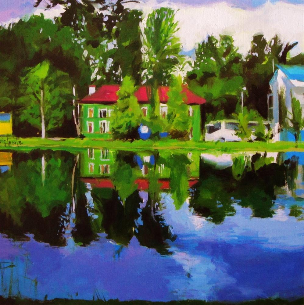 """Green House"" original fine art by Víctor Tristante"
