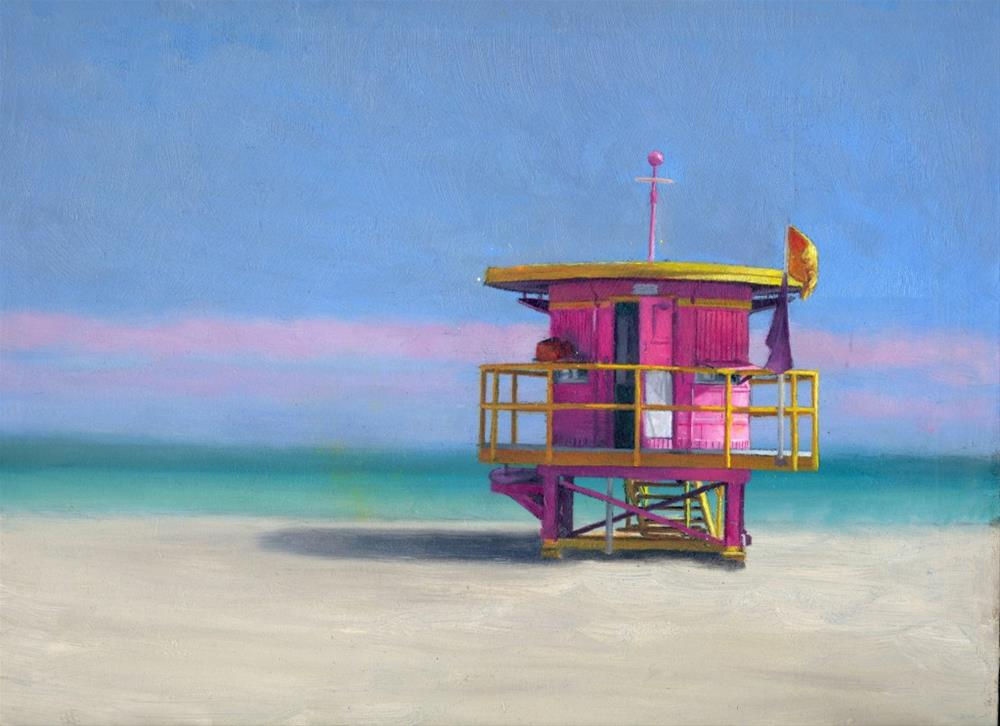 """World Famous Beach"" original fine art by Paulo Jimenez"
