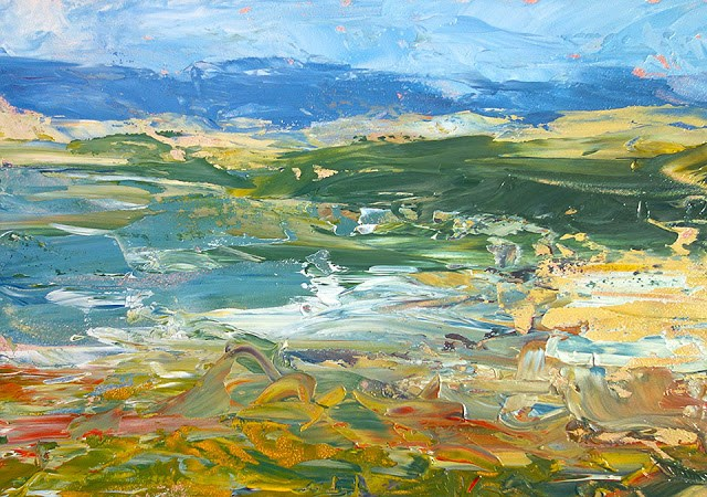 """Sonoma Coast Knife"" original fine art by J. Farnsworth"