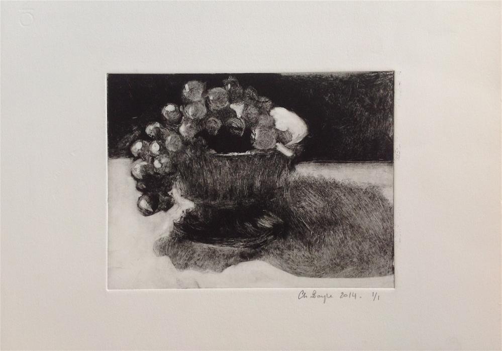 """""""Bol de raisins"""" original fine art by Christine Bayle"""