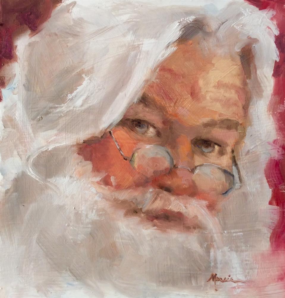 """Santa Claus"" original fine art by Marcia Hodges"