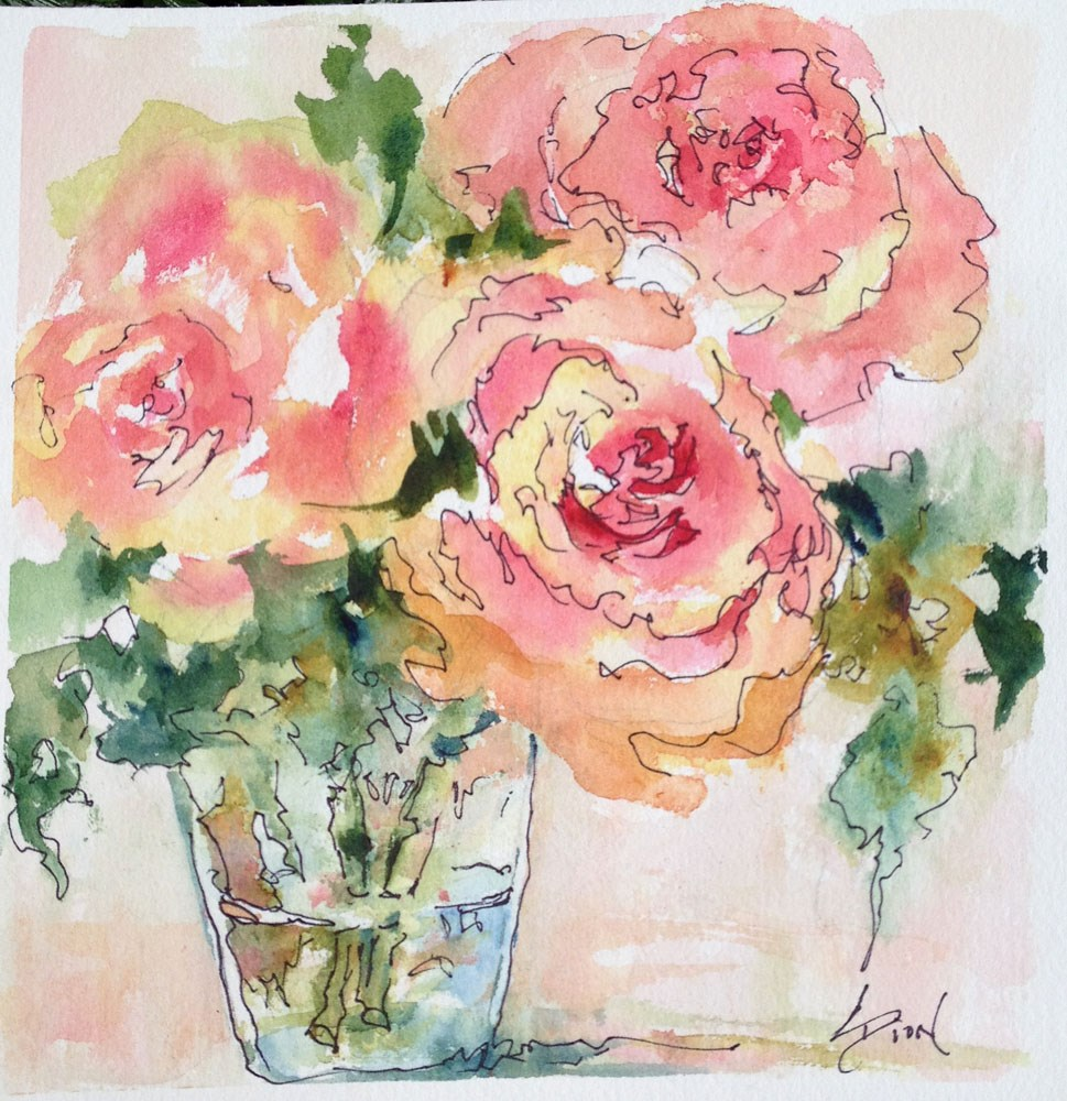 """""""There were Roses"""" original fine art by Sue Dion"""