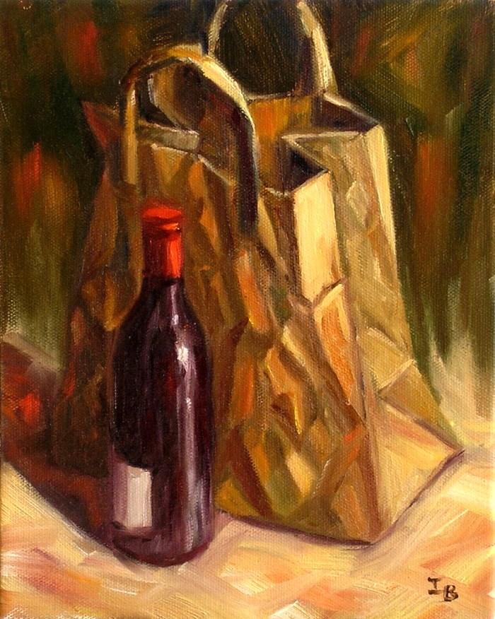 """The Paper Sack Challenge"" original fine art by Irina Beskina"