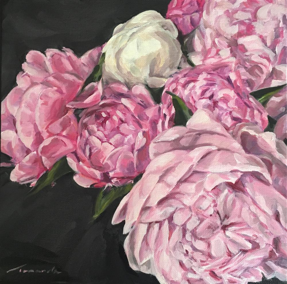 """Peonies (158)"" original fine art by Tamanda Elia"