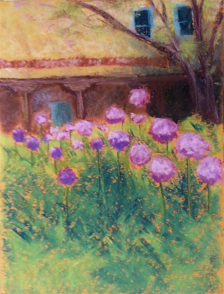 """Purple Snowballs in Santa Fe"" original fine art by Anna Lisa Leal"