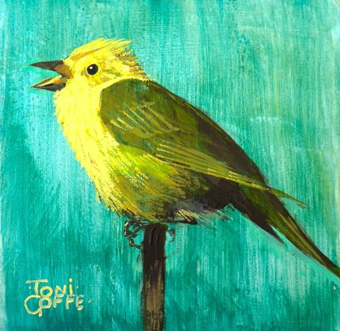 """Yellowhammer"" original fine art by Toni Goffe"