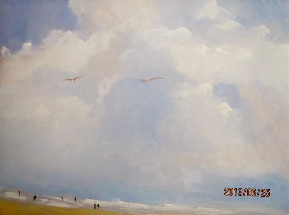 """""""ocean breeze"""" original fine art by Astrid Buchhammer"""