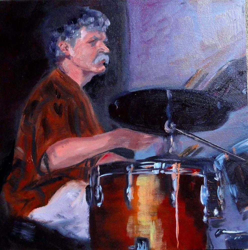 """Humboldt Time (The Drummer)"" original fine art by Cietha Wilson"