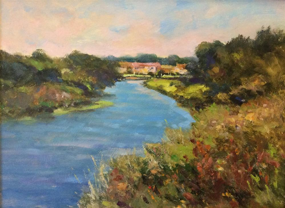 """The River Rother"" original fine art by John Shave"