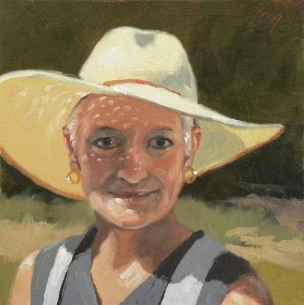 """Caroline Jasper"" original fine art by Diane Mannion"