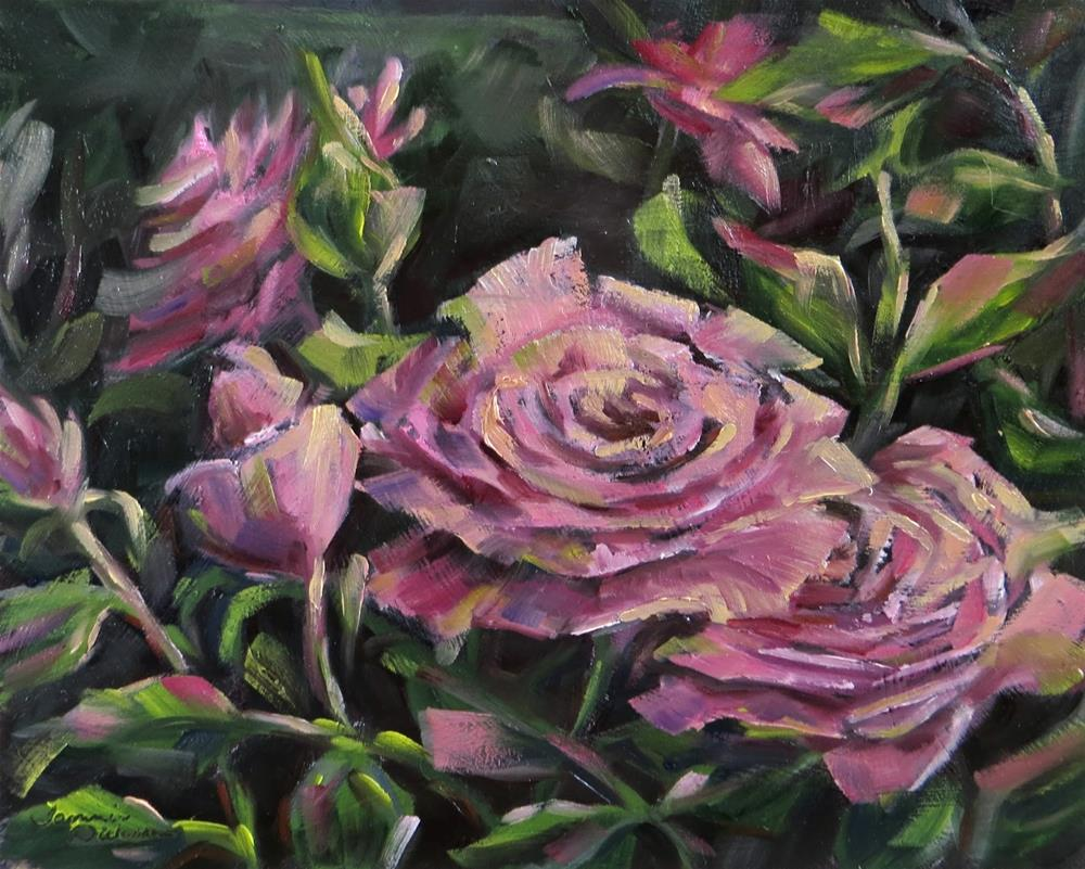 """Blushing Beauties"" original fine art by Tammie Dickerson"