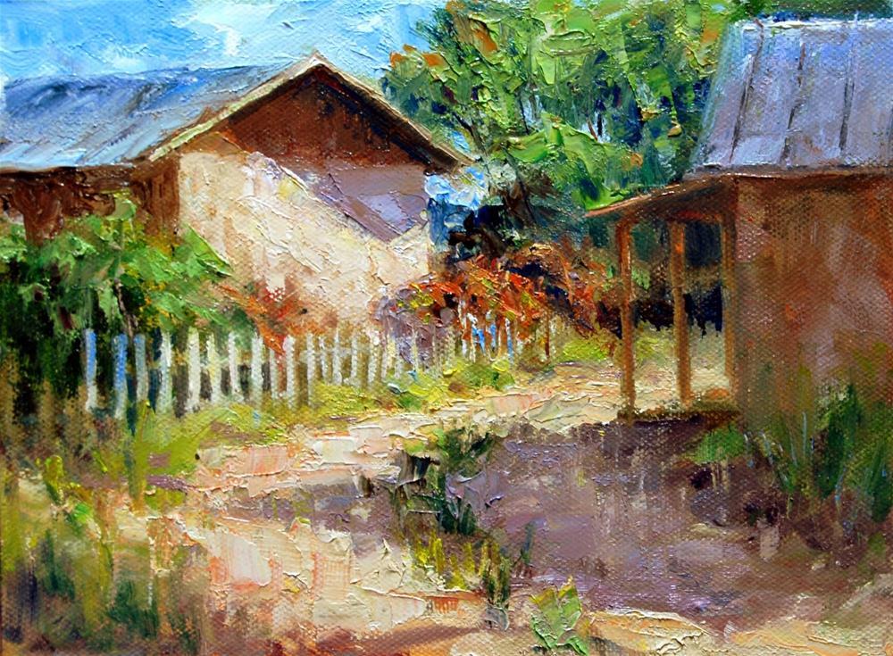 """New Mexico Sunshine"" original fine art by Julie Ford Oliver"