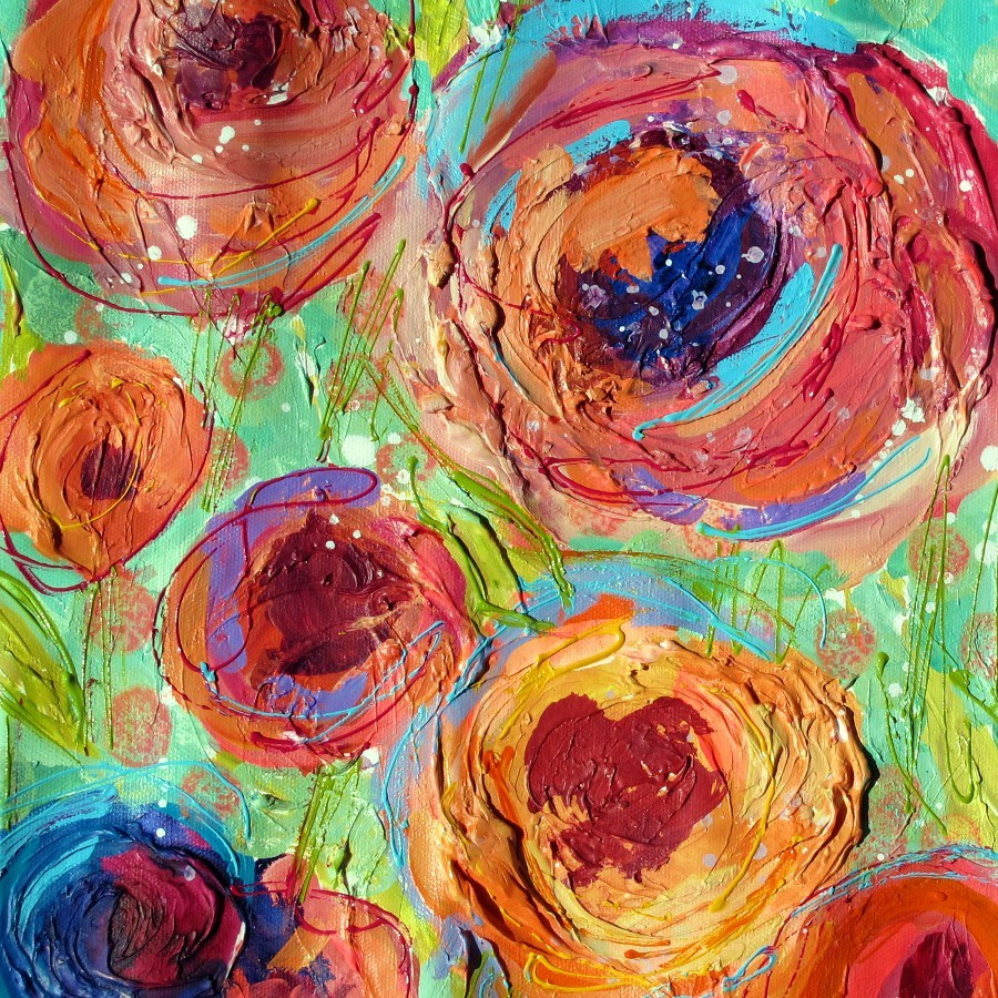 """California Roses #1, 12104 NFS (donation - private collection)"" original fine art by Nancy Standlee"